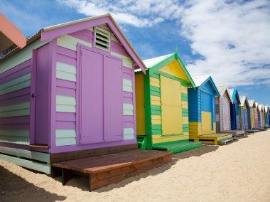 Colourful beach huts in Australia