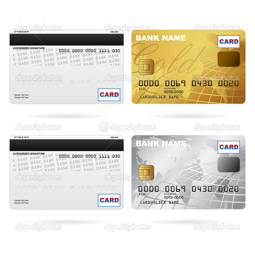 Front And Back Of Credit Cards Stock Vector C Vectomart 5140414