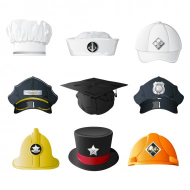 Different Profession Hats
