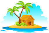 Fotografia capanna in isola