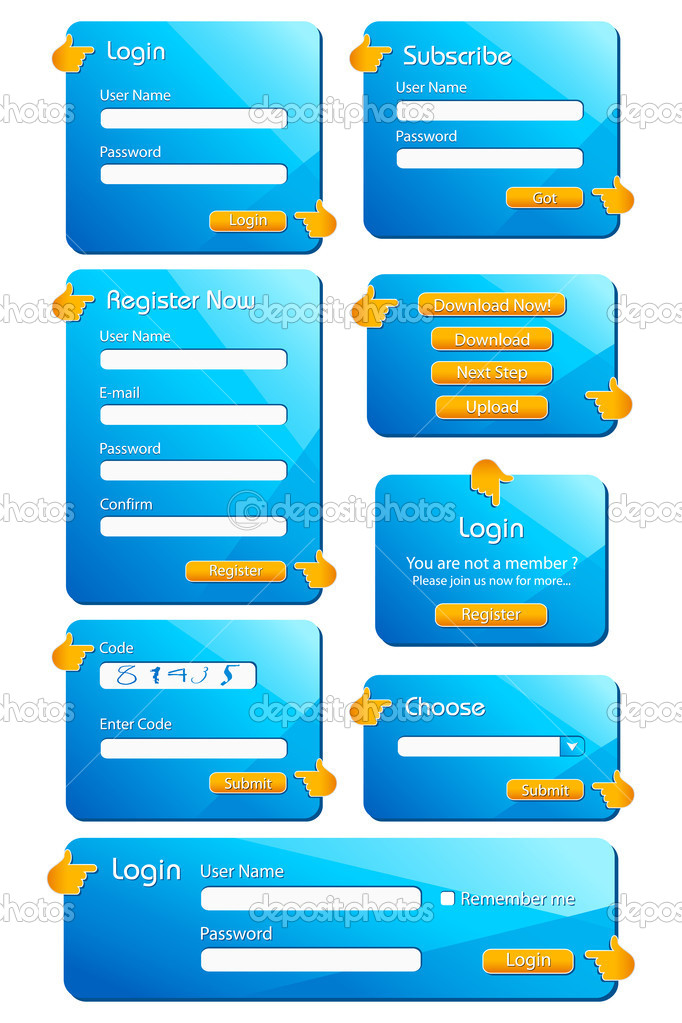 web form template stock vector vectomart 5190086