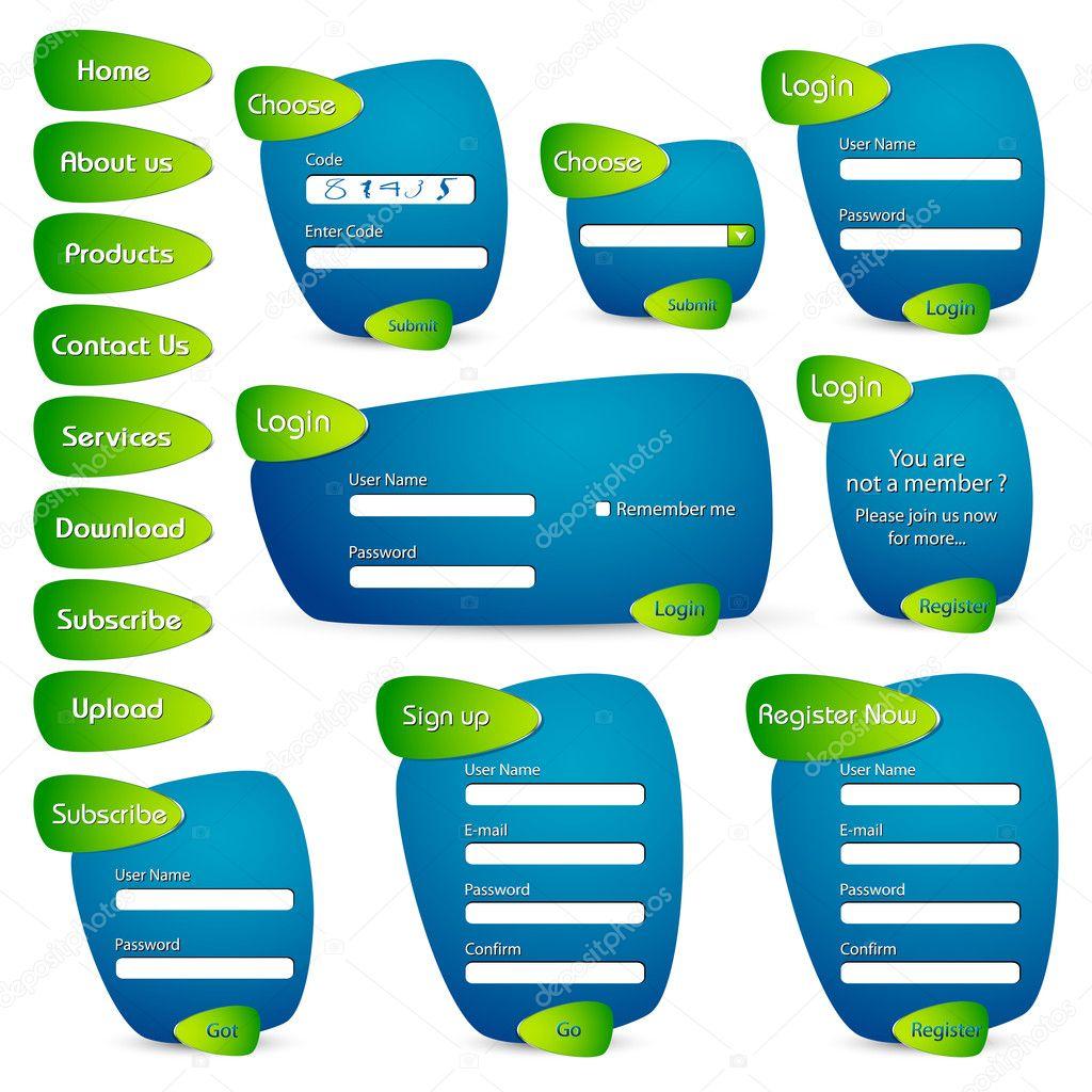 Trendy Web Form Template — Stock Vector © vectomart #5258086