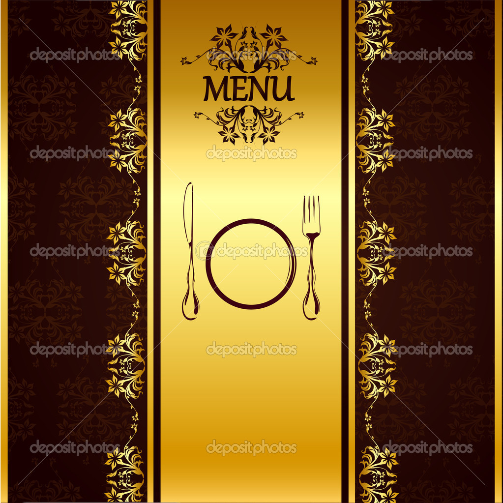 Menu Card Template — Stock Vector © vectomart #5258498