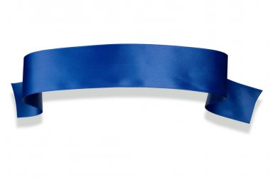 Blue ribbon banner