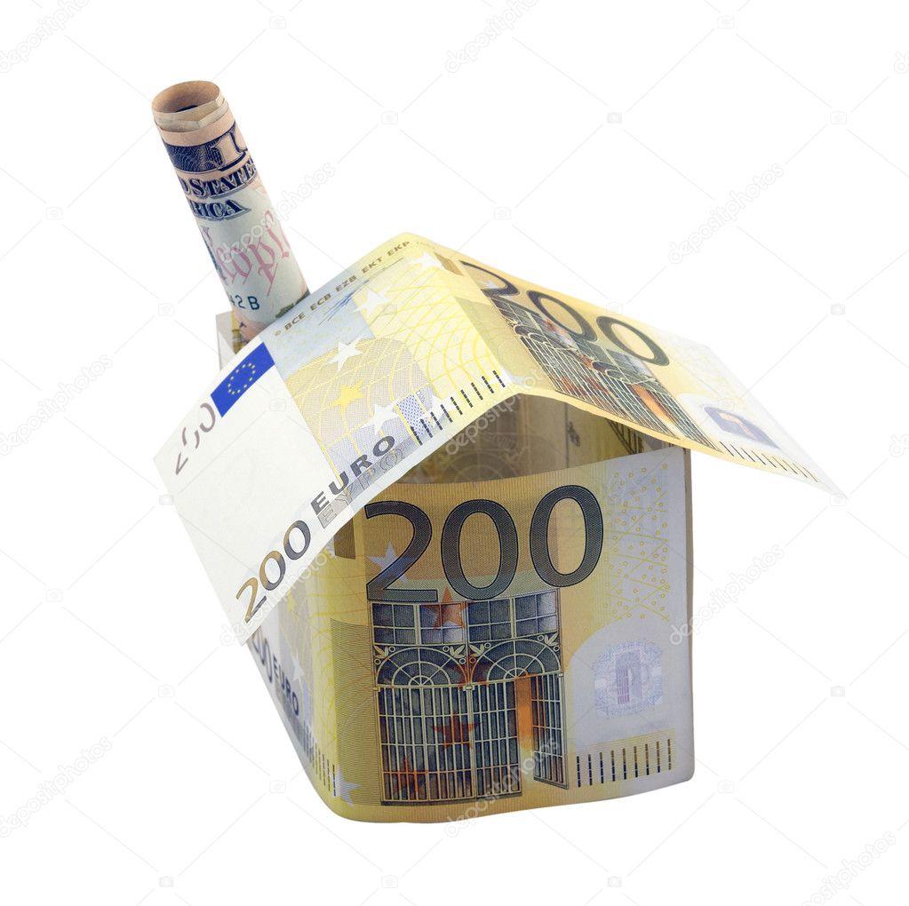 Casa di 200 euro con camino foto stock boudikka 5258757 for Piani di casa con camino