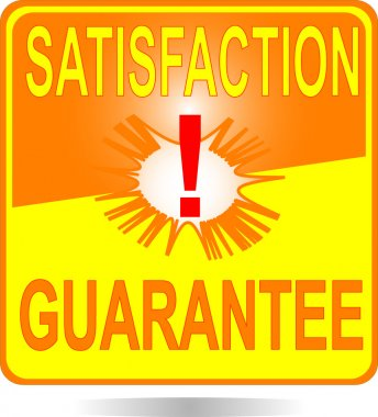 Orange square button Satisfaction sign
