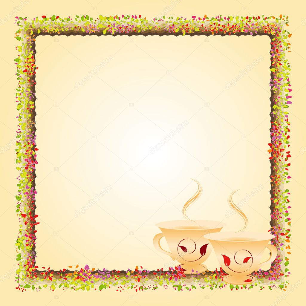 Summer afternoon tea time party invitation card — Stock Vector ...
