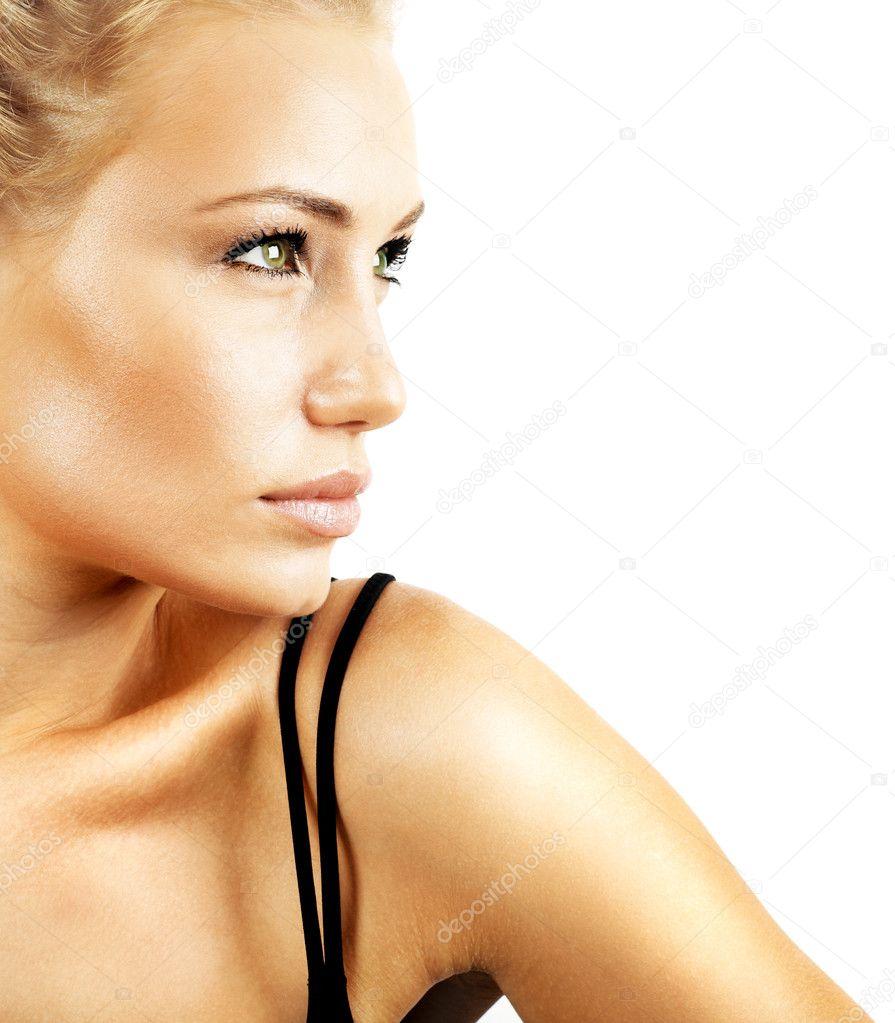 Beautiful female face