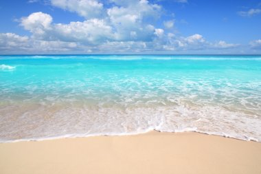 Caribbean turquoise beach perfect sea sunny day