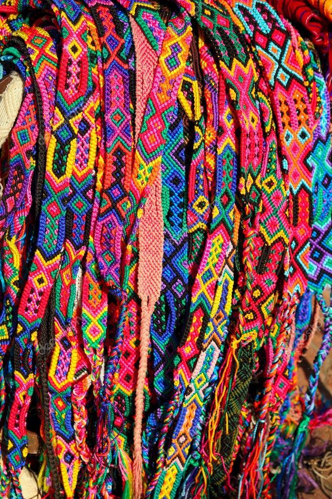 chiapas m xico artesan as coloridas pulseras de correas