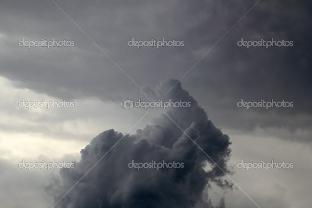Cloudy sky magic shapes silhouettes gray clouds