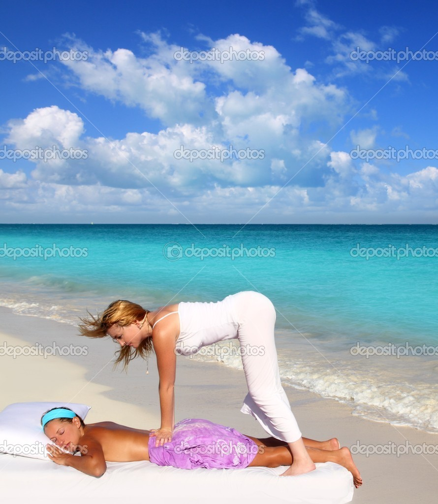 Caribbean beach massage shiatsu waist therapy