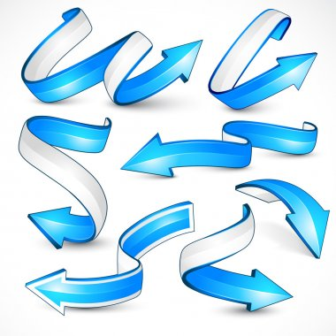 Blue arrows. Vector illustration