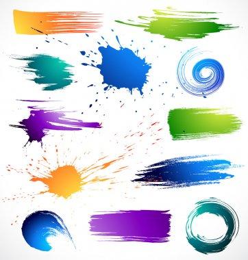Vector illustration paint splashes stock vector