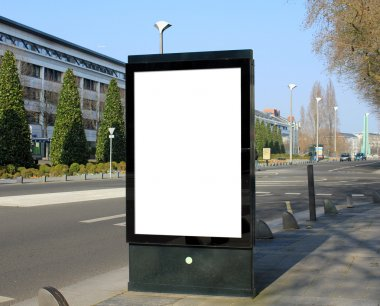 Blank advertising board