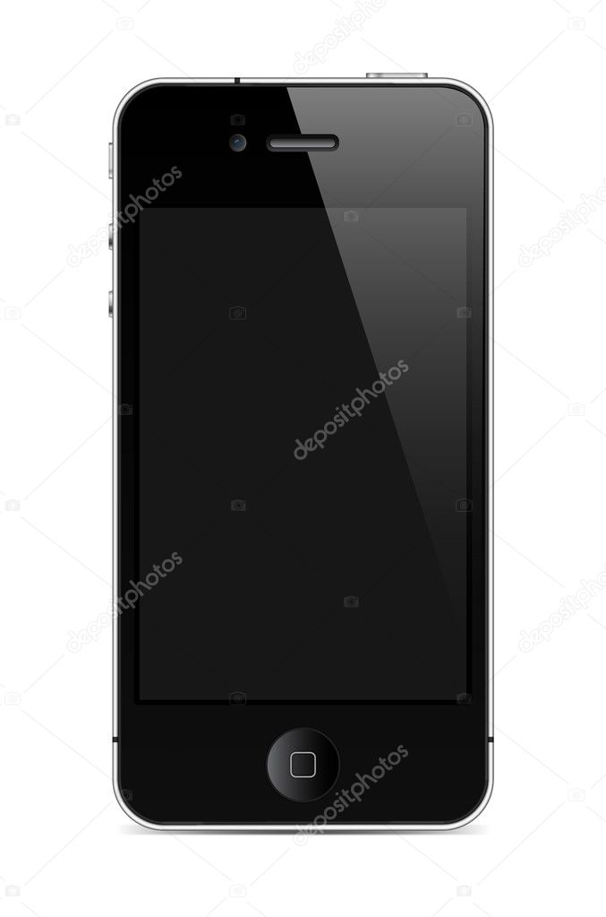 mobile phone with screen in similar to iphone