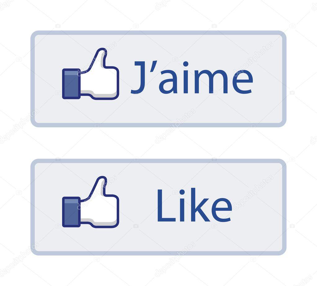 logo facebook j'aime vectoriel