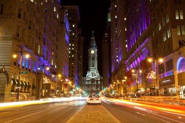 Philadelphia streets by night
