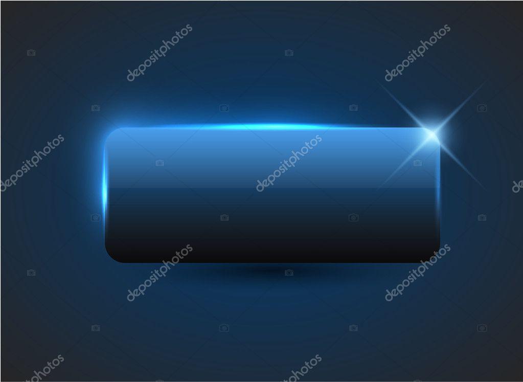 Empty blue button