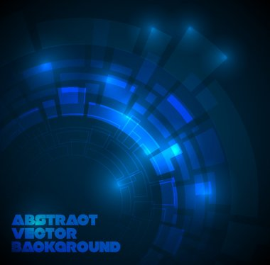 Abstract dark blue technical background