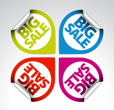 Colorful Round Labels stickers