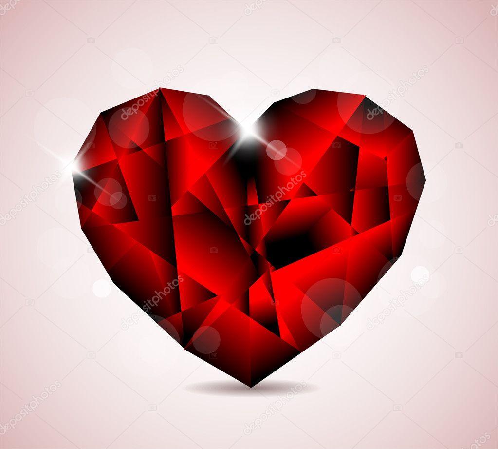 red diamond jewel heart � stock vector 169 orson 5239787