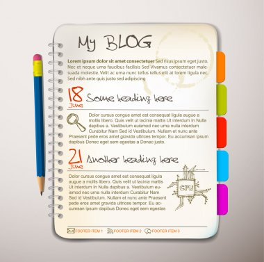 Blog web site template