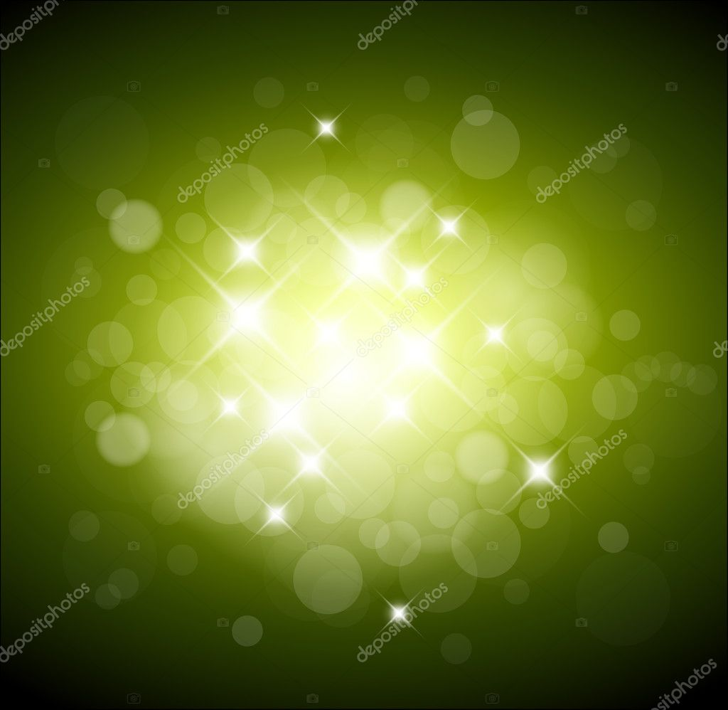 Green background with white lights