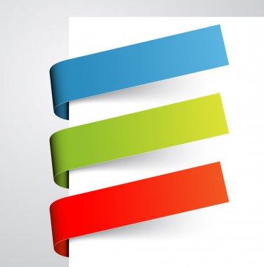 Set of colorful paper tags