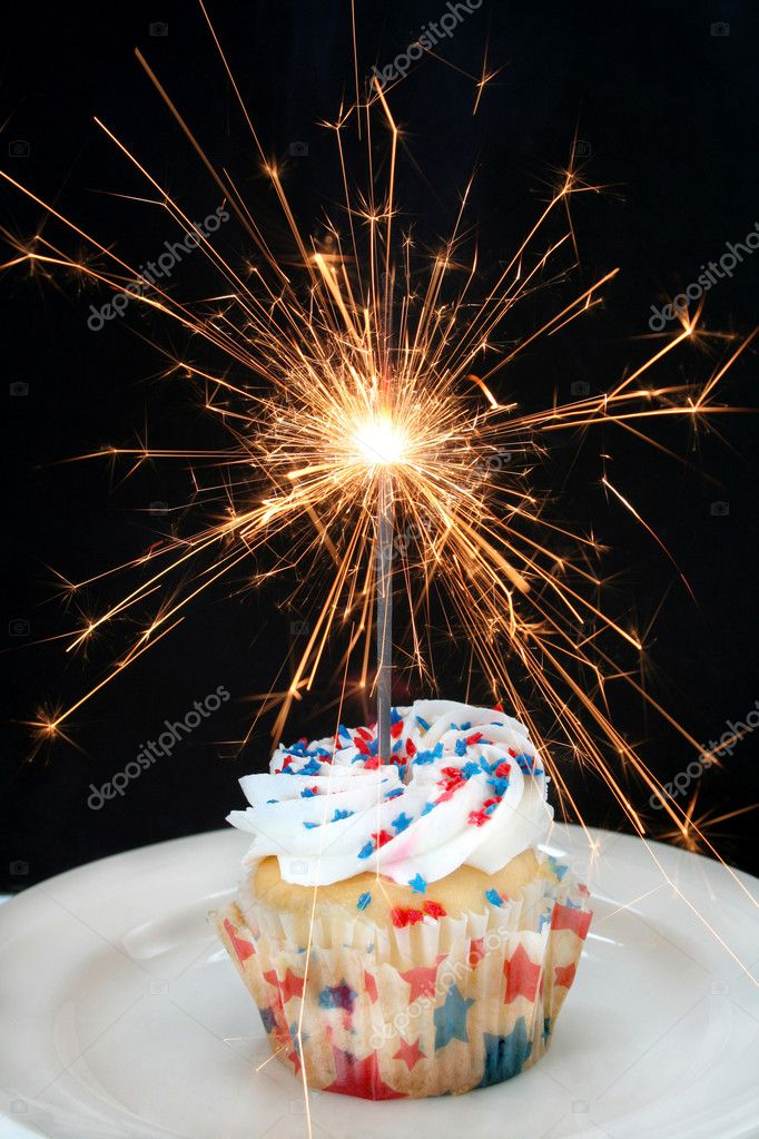 Cupcake and Sparkler