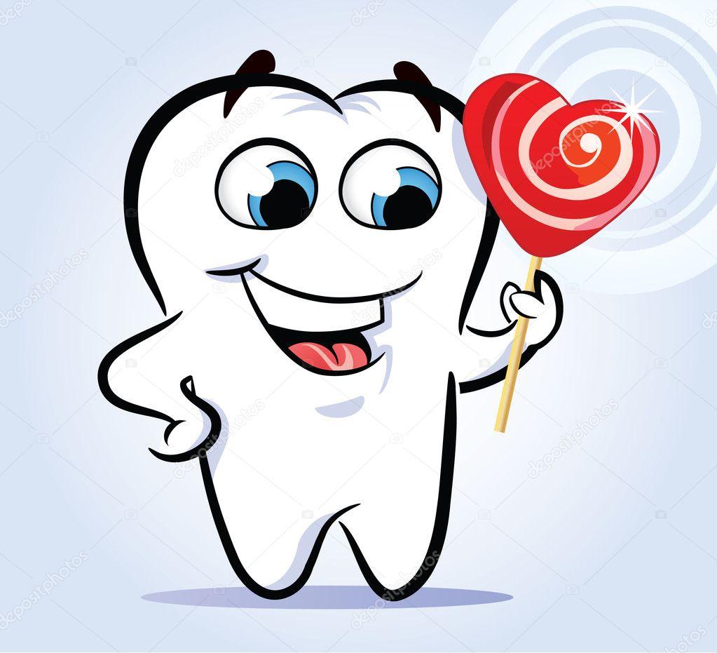 Прикольная картинка зуб дают