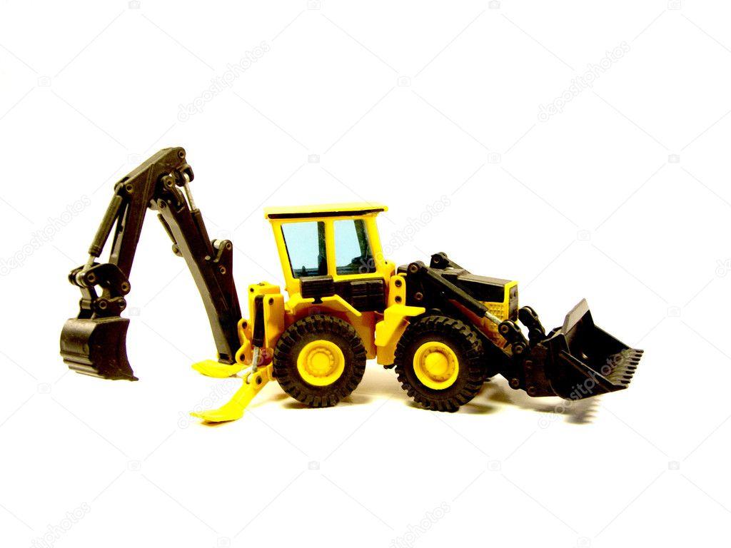 Miniature backhoe loader stock photo 5261780