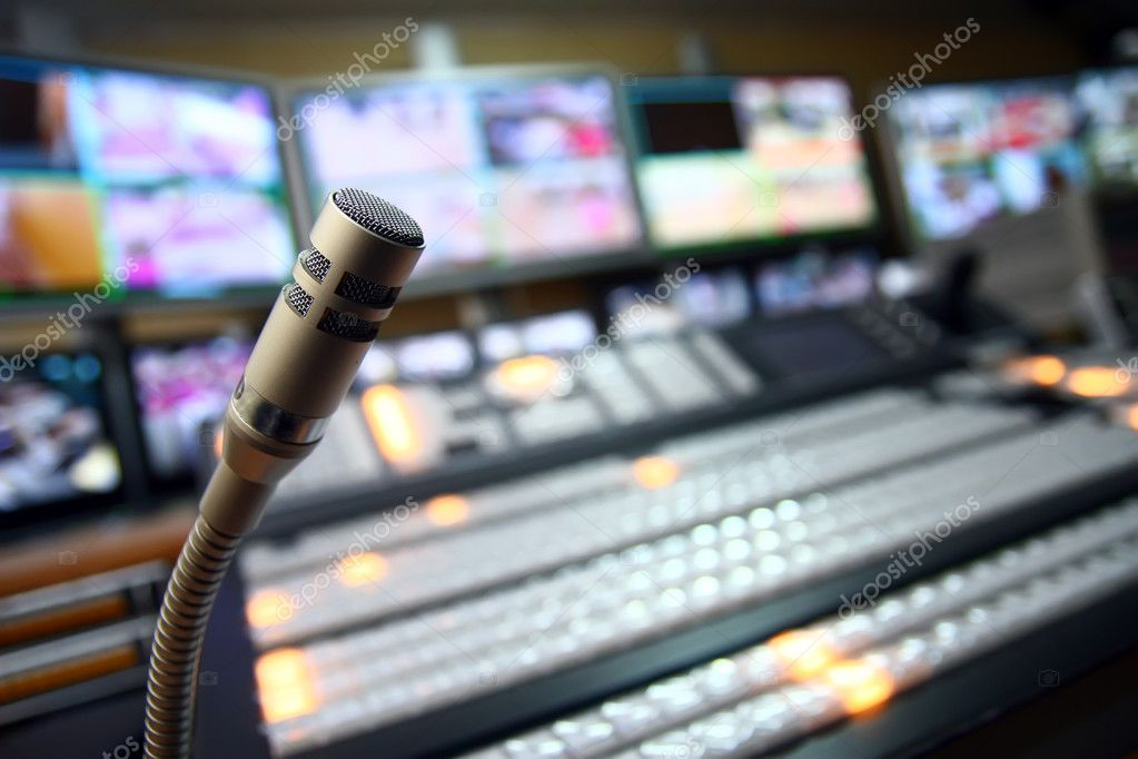 TV studio microphone