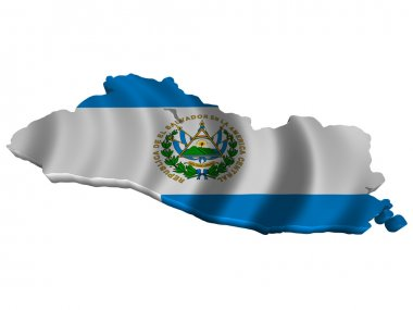 Flag and map of El Salvador