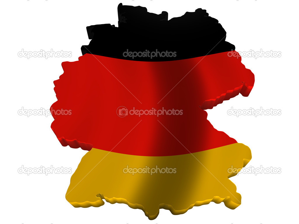 Flag And Map Of Germany Stock Photo Savup - Germany map cartoon