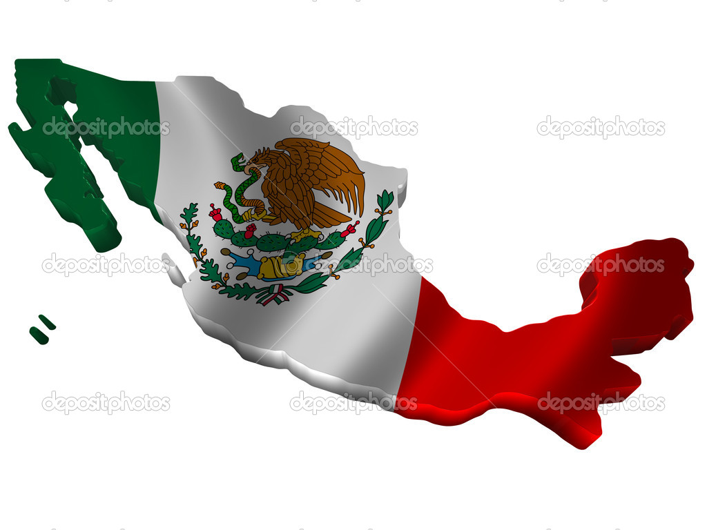 Flag And Map Of Mexico Stock Photo Savup - Mapa de mexico