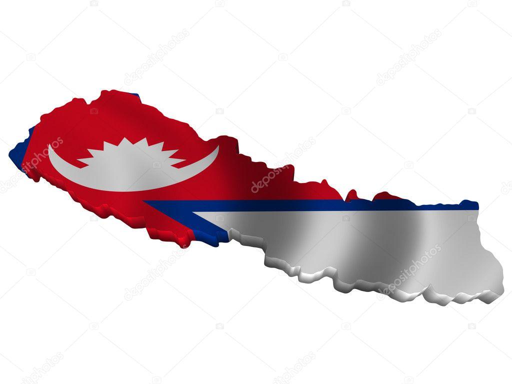 Flag and map of Nepal — Stock Photo © sav_up #5246080