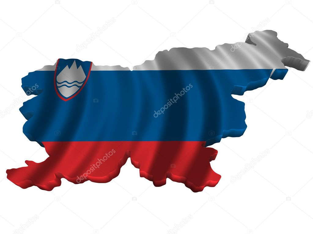 Flag And Map Of Slovenia Stock Photo Savup - Slovenia map download