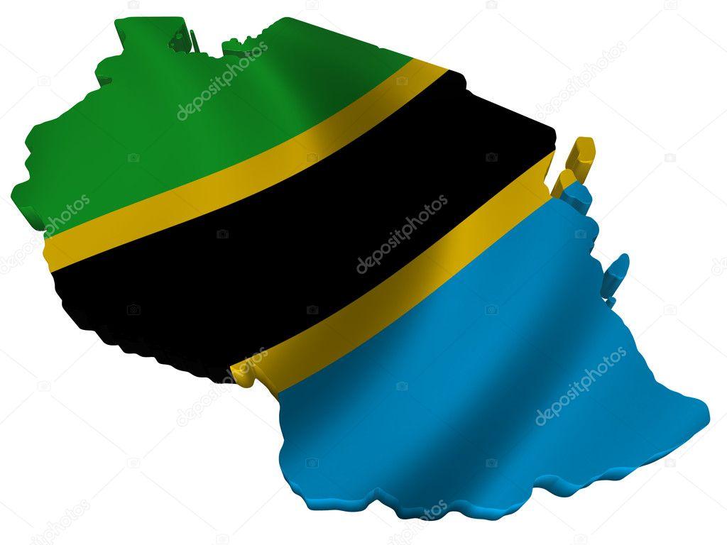 Flag And Map Of Tanzania Stock Photo Savup - Tanzania map download