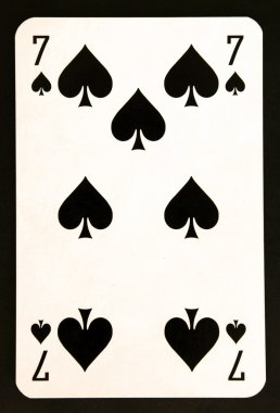 Playing card seven