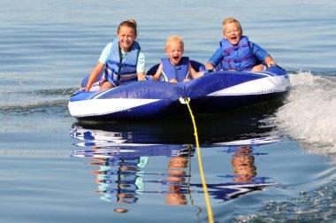 3 Kids on Water Tube