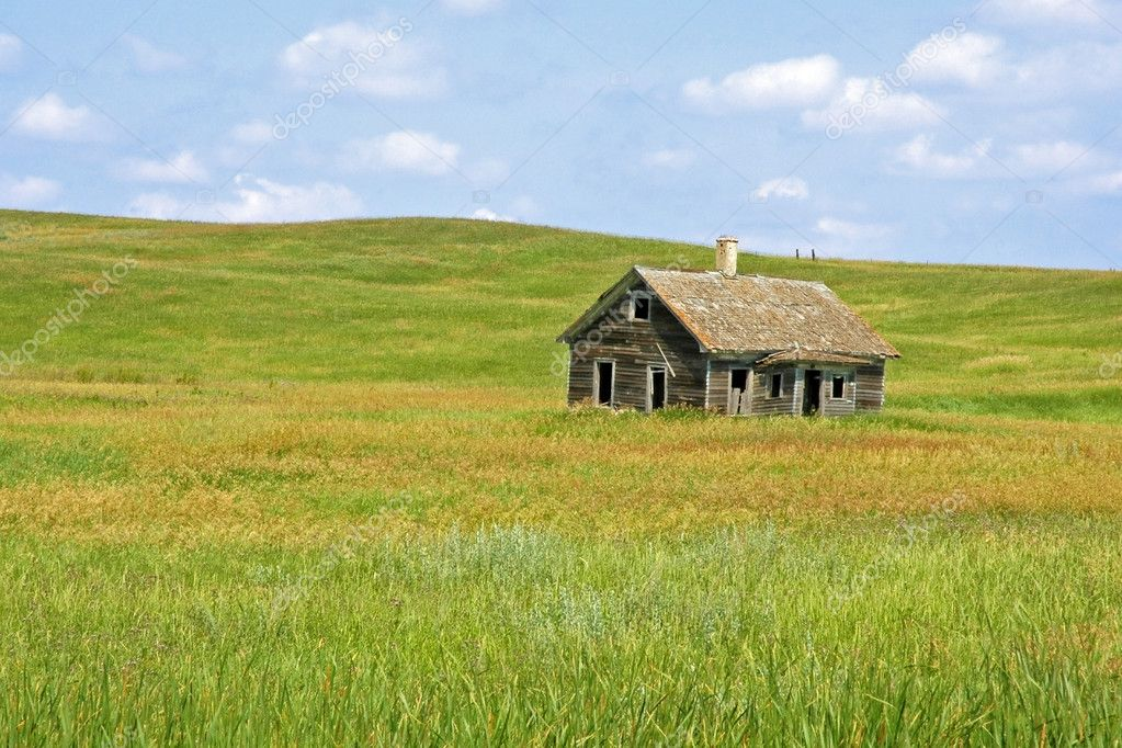 Vecchia fattoria nella prateria foto stock for Piani di fattoria americana
