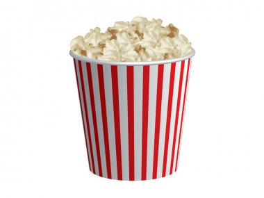 Classic box of red and white popcorn box