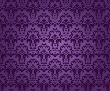Purple seamless ornament