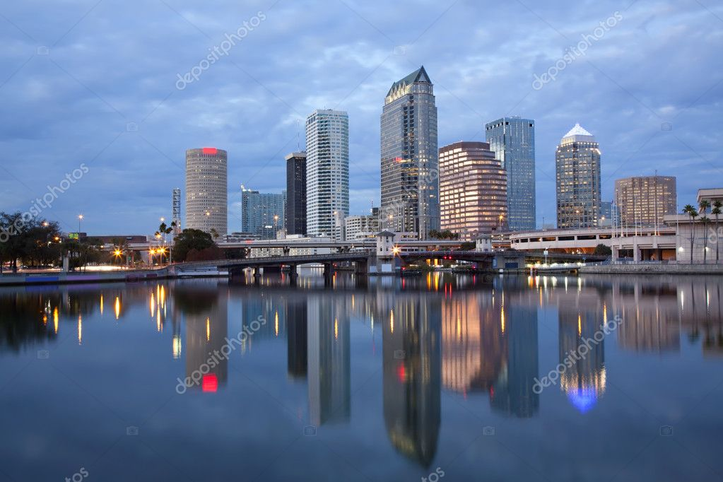 Sunrise Sunset Downtown Tampa, Florida