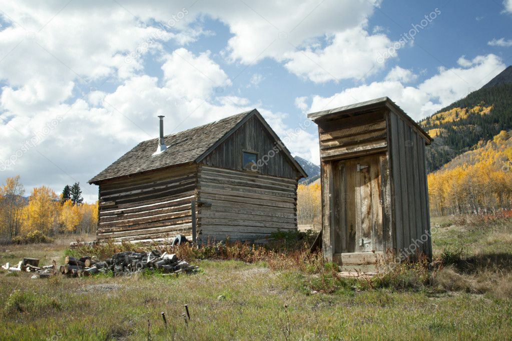 Abandoned House and Outhouse in Colorado Ghost Town