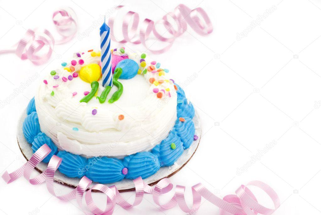 One Year Birthday Cake Stock Photo cheryledavis 5249387