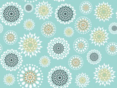 Seamless with round flowers