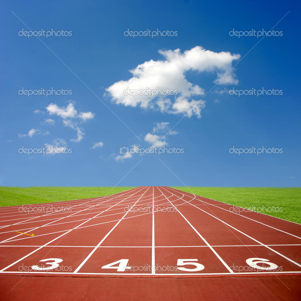 Sports athletics track — Stock Photo © mikeexpert #5295820