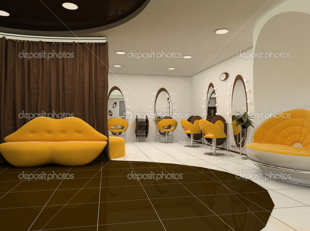Interieur van luxe beauty salon stockfoto for A luxe beauty salon